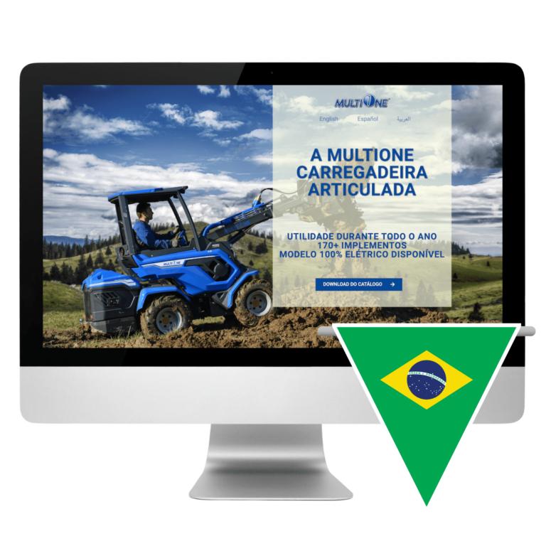 Portuguese Landing Page Design