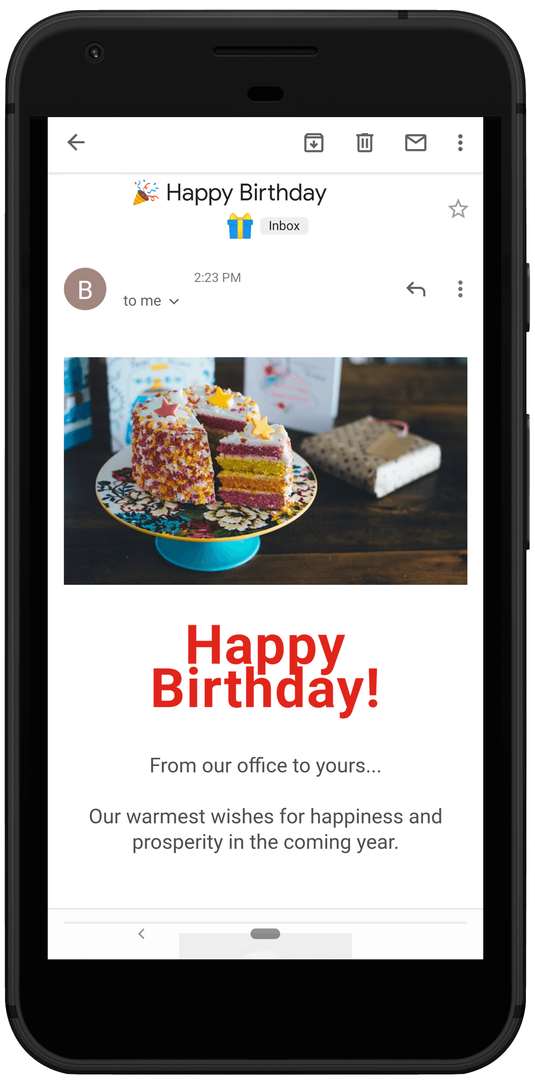 Birthday Emails to Potential Client Referrals